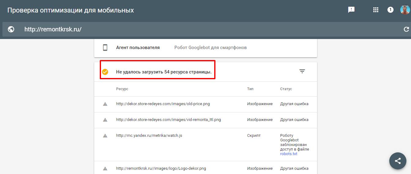 Оптимизация сайта для телефонов