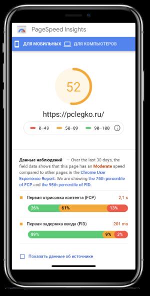 Скорость сайта для мобильных устройств