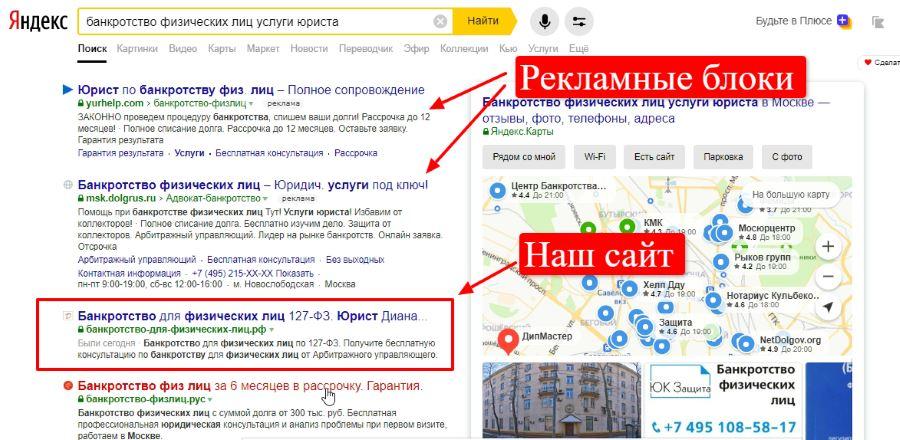 Сайт в ТОП Яндекс